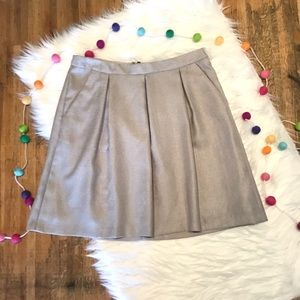 The Limited silver/gray pleated skater skirt